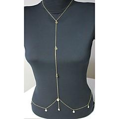 abordables Joyería Corporal-Cristal Cinturones metálicos / Para Cuerpo - Cristal Diseño Único, Moda Mujer Dorado Joyería Corporal Para Diario / Casual