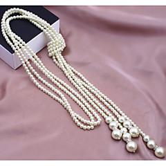 preiswerte Halsketten-Damen Mehrschichtig Stränge Halskette / Perlenkette - Perle, Künstliche Perle Modisch, Mehrlagig Modische Halsketten Schmuck Für Hochzeit, Party, Alltag / Normal