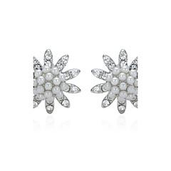 preiswerte Ohrringe-Damen Perle Ohrstecker - Künstliche Perle Blumen / Botanik Modisch 1 # / 2 # Für Hochzeit Party Alltag