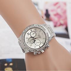 お買い得  ペアウォッチ-男性用 女性用 カップル用 クォーツ ダミー ダイアモンド 腕時計 ファッションウォッチ スイスの 模造ダイヤモンド デザイナー ステンレス バンド チャーム シルバー ゴールド