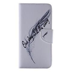 Недорогие Кейсы для iPhone-Для Кейс для iPhone 6 / Кейс для iPhone 6 Plus Бумажник для карт / Кошелек / со стендом / Флип / С узором Кейс для Чехол Кейс для Перо