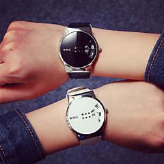 preiswerte Armbanduhren für Paare-Herrn Armbanduhr Wasserdicht / Armbanduhren für den Alltag / Cool PU Band Freizeit Schwarz / Weiß