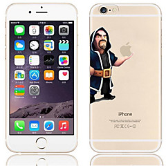 cheap iPhone Cases-Case For Apple iPhone 6 Plus / iPhone 6 Transparent / Pattern Back Cover Playing with Apple Logo Hard PC for iPhone 6s Plus / iPhone 6s / iPhone 6 Plus