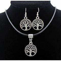 Heren Dames Voor Stel Kostuum juwelen Legering Kettingen Oorbellen Voor Dagelijks Causaal Giften van het Huwelijk