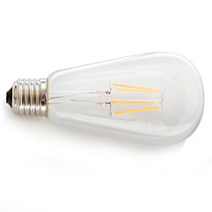 お買い得  LED 電球-KAKANUO 1個 360 lm E26/E27 フィラメントタイプLED電球 4 LEDの COB 装飾用 温白色 AC85-265V