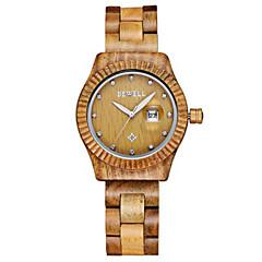 preiswerte Tolle Angebote auf Uhren-Damen Unisex Modeuhr Armbanduhr Uhr Holz Japanisch Quartz Kalender Holz Band Vintage Bettelarmband Luxuriös KreativSchwarz Braun Grün