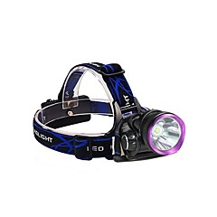 3Mode Headlamps Bike Lights Headlight LED 2500 lm 3 Mode with Batteries and Chargers Impact Resistant Rechargeable Waterproof