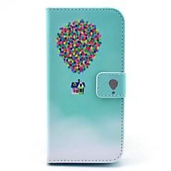 Недорогие Кейсы для iPhone-Кейс для Назначение Apple iPhone 6 iPhone 6 Plus Бумажник для карт Кошелек со стендом Флип С узором Чехол Воздушные шары Твердый Кожа PU