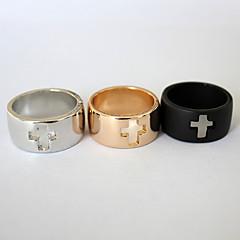 お買い得  指輪-女性用 バンドリング  -  ステンレス鋼 ファッション 7 ブラック / シルバー / ゴールデン 用途 パーティー / 日常 / カジュアル