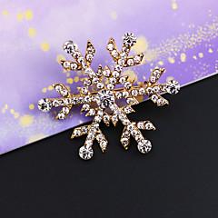 embutimento do vintage broche de diamante do floco de neve