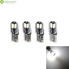 4 x T10 149 168 W5W 3W 8 x 5630 White 6000K Car Tail Light / Instrument Lamp DC12V