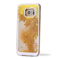 voordelige Galaxy S6 Edge Hoesjes / covers-vloeibare glitter kleurrijke paillette zand drijfzand achterkant van de behuizing cover voor Samsung Galaxy S3 / S4 / S5 / s6 / s6 edge /