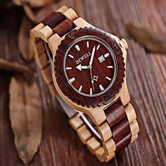 billige Herreure-Herre Ur Træ Armbåndsur Quartz Japansk Quartz Kronograf Træ Bånd Vedhæng Vintage Brun Mangefarvet