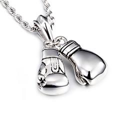 preiswerte Halsketten-Herrn Lang Anhängerketten - Edelstahl Europäisch, Modisch Silber Modische Halsketten Für Weihnachts Geschenke, Alltag, Normal