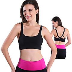 Queen Yoga Γυναικεία Αμάνικο Αναπνέει Συμπίεση Αθλητικά Σουτιέν για Γιόγκα Ελαστίνη Tactel XS Τ M L