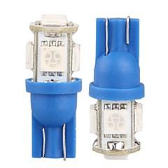 10 * T10 W5W 168 194 auto side wedge kentekenplaat lamp lamp 5050smd 5 led licht 12v (rood / blauw / wit / groen / geel / roze)