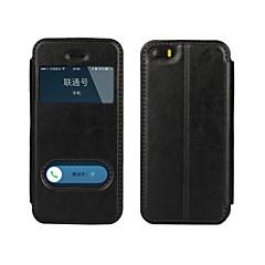 tanie Etui do iPhone 5-Kılıf Na iPhone 5 Apple iPhone 8 iPhone 8 Plus Etui iPhone 5 Z podpórką Z okienkiem Flip Pełne etui Solid Color Twarde Skóra PU na iPhone