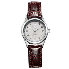 preiswerte Tolle Angebote auf Uhren-Damen Armbanduhr Quartz 30 m Wasserdicht Leder Band Analog Charme Modisch Schwarz / Weiß / Rot - Rot Rosa Dunkelbraun