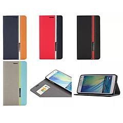 Voor Samsung Galaxy hoesje Kaarthouder / met standaard / Flip / Patroon / Magnetisch hoesje Volledige behuizing hoesje Geometrisch patroon