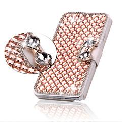 luxe bling kristal diamant lederen tas flip cover voor Samsung Galaxy S3 / S4 / S5 / s6 / s6 edge / s6 rand plus