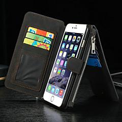 Na iPhone 8 iPhone 8 Plus iPhone 6 iPhone 6 Plus Etui Pokrowce Portfel Etui na karty Z podpórką Flip Futerał Kılıf Solid Color Twarde