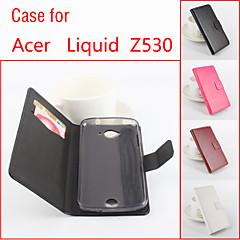 お買い得  その他のケース-ケース 用途 Acer Acerケース カードホルダー / スタンド付き / フリップ フルボディーケース ソリッド ハード PUレザー のために