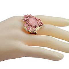 halpa Sormukset-Tyylikkäät sormukset Gemstone Kristalli Metalliseos Muoti Sininen Pinkki Korut Party Päivittäin Kausaliteetti 1kpl