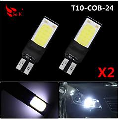 preiswerte Autozubehör-SO.K 2pcs T10 Auto Leuchtbirnen COB 200 lm 6 Blinkleuchte For Universal