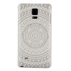 billige Galaxy Note 5 Etuier-For Samsung Galaxy Note Transparent Etui Bagcover Etui Mandala-mønster PC for Samsung Note 5 Note 4