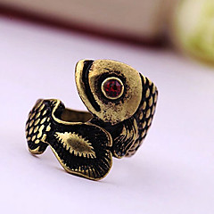 preiswerte Ringe-Damen Statement-Ring - versilbert, vergoldet, Diamantimitate Luxus 7 Silber / Golden Für Party / Alltag / Normal
