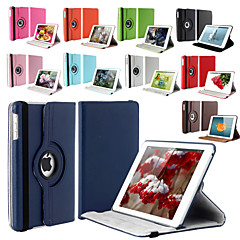 billige Etuier / Covers Til iPad Air-Etui Til iPad Air Med stativ Auto Sluk Origami 360° Rotation Fuldt etui Helfarve PU Læder for iPad Air