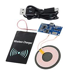 voordelige Telefoonladers-cwxuan ™ Qi standaard diy draadloze overdracht pcb + dc ontvangen module opladen set