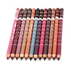 Delineador de Labios Seco Lápiz Gloss colorido / Larga Duración / Natural / Secado rápido / Transpirable Negro / Marrón / Rojo