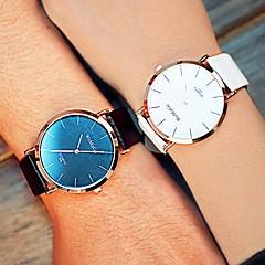 preiswerte Armbanduhren für Paare-Herrn Damen Unisex Modeuhr Quartz Armbanduhren für den Alltag PU Band Analog Schwarz / Weiß / Braun - Schwarz Rose Braun