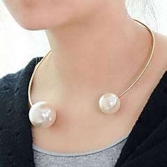 Női Rövid nyakláncok Biserna ogrlica Gyöngy Ötvözet Divat Fehér Ékszerek Különleges alkalom Születésnap