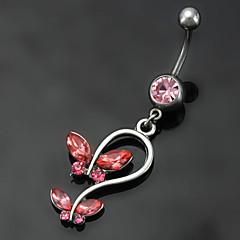Damskie Biżuteria Navel & Bell Button Rings Stal nierdzewna Modny Czerwony Niebieski Biżuteria Codzienny Casual 1szt