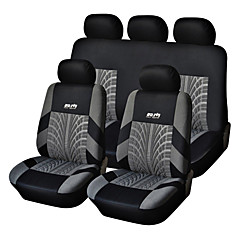 cheap Gadgets & Auto Parts-5 Seats Universal Car Seat Cover Black/Gray Textile Material Vehicle Seat Coler (9 pcs per kit)
