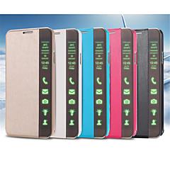 tanie Galaxy Note 3 Etui / Pokrowce-Kılıf Na Samsung Galaxy Samsung Galaxy Note Z podpórką Auto uśpienie / włączenie Flip Pełne etui Solid Color Skóra PU na Note 4 Note 3