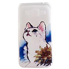 お買い得  Samsung その他の機種用ケース/カバー-ケース 用途 Samsung Galaxy Samsung Galaxy ケース クリア パターン バックカバー 猫 TPU のために On 7 On 5 J7 J5 J3 J1 Grand Prime Grand Neo Core Prime