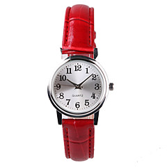 preiswerte Damenuhren-Damen Armbanduhr Wasserdicht PU Band Modisch / Elegant Rot / Ein Jahr / Tianqiu 377