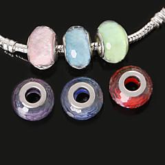 beadia 10db gyanta Európai gyöngyök 10x14mm nagy lyuk gyöngyök fit ékszerek