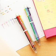 preiswerte Zubehör zum Zeichnen und Schreiben-Kugelschreiber Stift Kugelschreiber Stift, Kunststoff Rot Schwarz Blau Gelb Gold Grün Tintenfarben For Schulzubehör Bürobedarf Packung