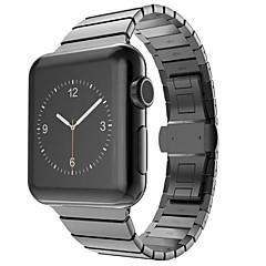 abordables Accesorios para Apple Watch-dos grano de bambú dinero negro aumentó ip acero chapado en oro para la banda de 42 mm reloj de manzana