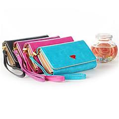 voordelige Universele hoesjes & tasjes-luxe mobiele telefoon portemonnee handtas portemonnee geval is met kaarthouder voor Galaxy s6 edge / s6 / S5 / S4 / s3 iPhone5 / 5s / 6/6 plus