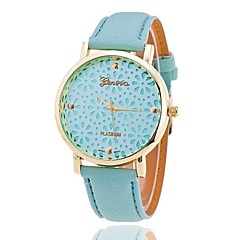preiswerte Damenuhren-Xu™ Damen Quartz Armbanduhr Transparentes Ziffernblatt PU Band Blume Modisch Schwarz Weiß Grün Rosa Beige
