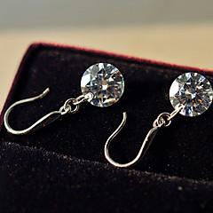 billige Damesmykker-Dråbeøreringe Imitation Diamond Fødselssten Hvid Smykker