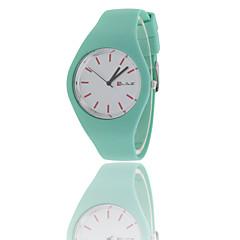 preiswerte Damenuhren-Damen Armbanduhr Sportuhr / Cool Caucho Band Modisch Schwarz / Weiß / Blau
