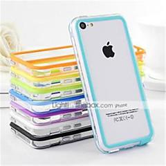 ДФ двойной цвет средний прозрачный мягкий TPU бампер для iphone 5с