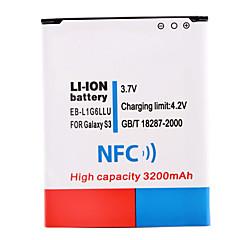 3.7V 3200mAh Li-ion Battery with NFC for Samsung S3 i9300