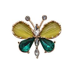 Χαμηλού Κόστους Καρφίτσες-Γυναικεία Κρυστάλλινο Πετράδι Στρας Γυαλί Οπάλιο απομίμηση διαμαντιών Κράμα Πράσινο Κοσμήματα Γάμου Πάρτι Καθημερινά Causal Αθλητικά